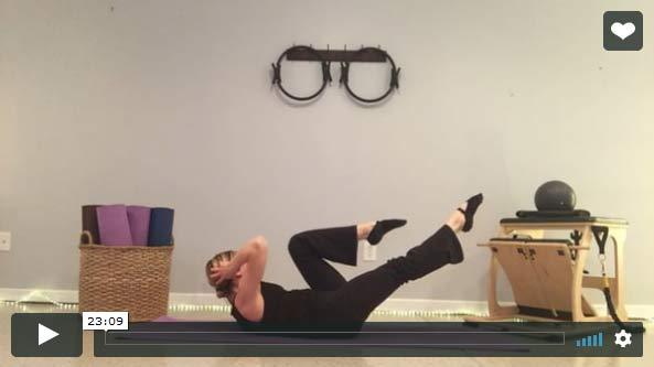20-Minute Intermediate to Advanced Level Mat Pilates Class