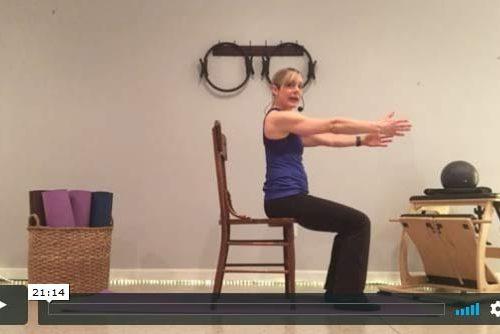 20-Minute Beginner Pilates in a Chair